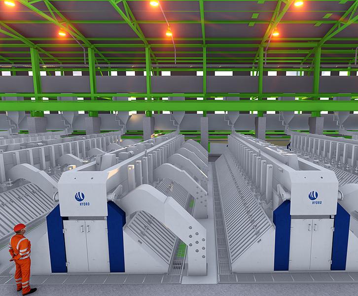 Hydro-Pilotanlage zur weltweit energieeffizientesten Technologie bei der Aluminiumproduktion©Hydro
