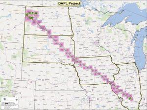 Der geplante Verlauf der Dakota Access Pipeline©energytransfer