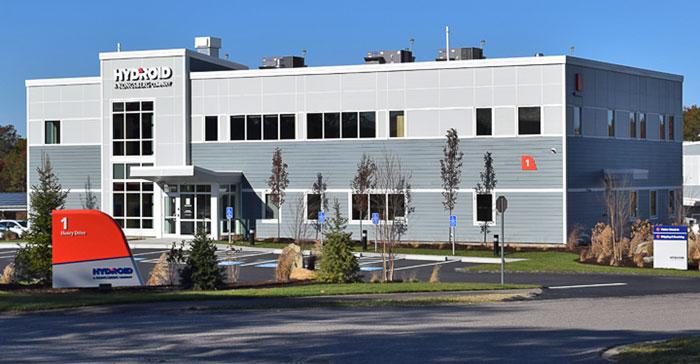 Der norwegische Technologiekonzern Kongsberg ist in zwölf Bundestaaten aktiv. Im Bild: das im Oktober 2016 eröffnete neue Headquarter des Tochterunternehmens Hydroid Inc. in Pocasset, Massachusetts.