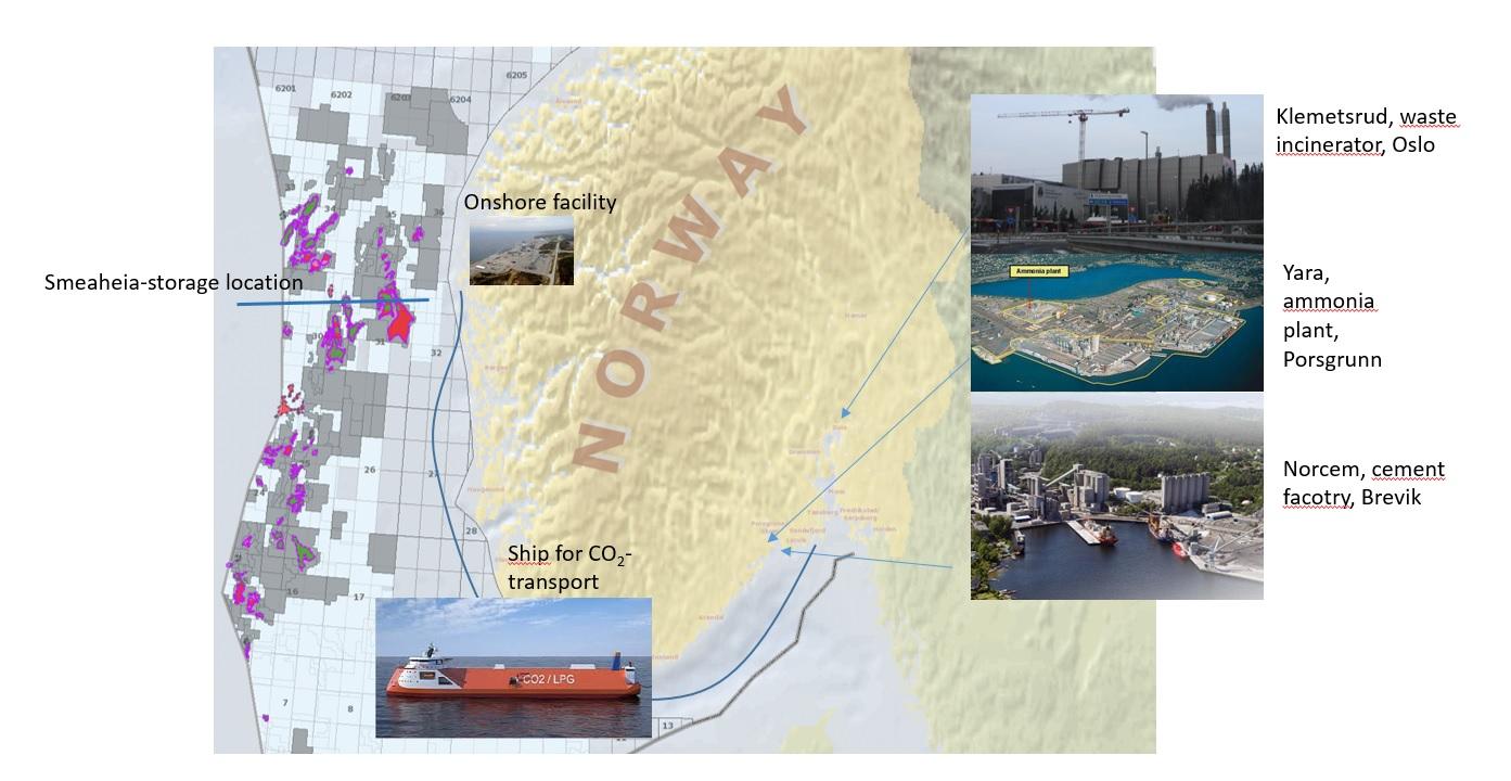 Von Regierung und Industrie unterstützte CCS-Projekte in Norwegen©regjeringen.no