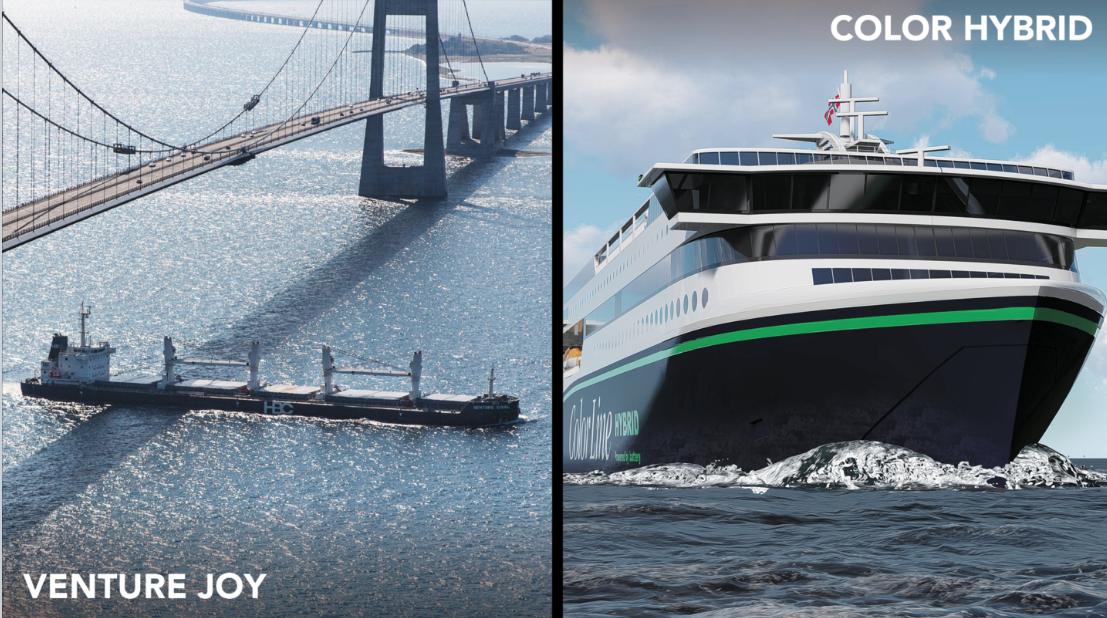 """Gewannen die Preise für Energieeffizienz und Next Generation: """"Venture Joy"""" und """"Color Hybrid""""© Nor-Shipping"""