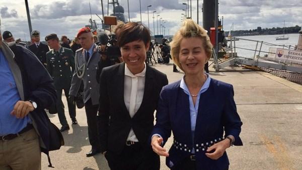 Norwegens Verteidigungsministerin Ine Eriksen Søreide mit ihrer deutschen Kollegin Ursula von der Leyen©Ministry of Defence, Norway
