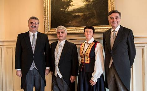 Von links: Janti Kalajoqa, Wilhelm Donko, Judīte Dobele und Thierry Béchet©M.B. Haga, MFA