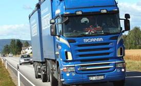 Im ersten Halbjahr 2017 wurden mehr Waren per Lkw Transportiert als im Vorjahreszeitraum.©SSSB