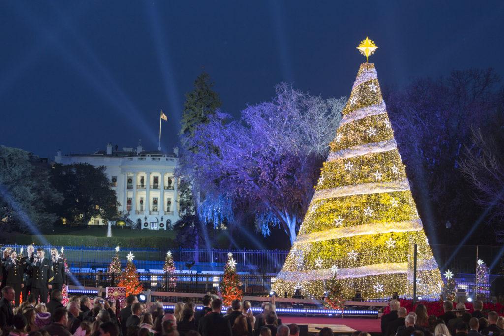 Im Januar 2018 wird Norwegens Ministerpräsidentin Erna Solberg im Weißen Haus von Donald Trump empfangen. Die aufwändige Weihnachtsdekoration wird dann aber schon verschwunden sein.©Official White House Photo by Joyce N. Boghosian
