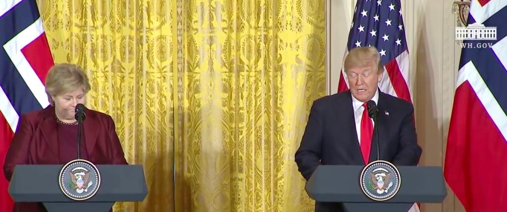 Pressekonferenz von Erna Solberg und Donald Trump im Weißen Haus©White House