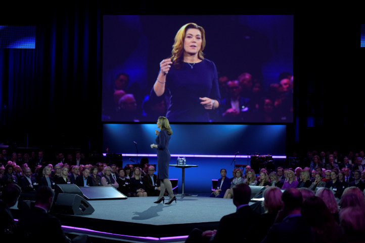 Ausgehend von den Bedürfnissen der Unternehmen, sagt NHO-Chefin Kristin Skogen Lund ©Aleksander Andersen
