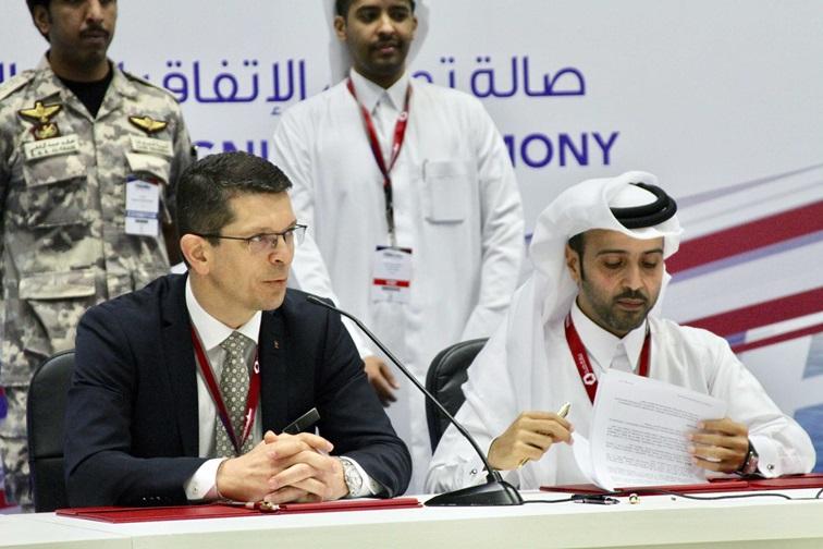 Unterzeichnung des größten Vertrages in der Firmengeschichte von Kongsberg©KongsbergVertragsunterzeichnung in Katar©Kongsberg