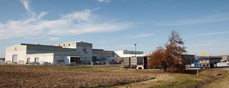 Die Aluminiumumschmelzanlage von Hydro in Henderson, Kentucky, produziert jährlich über 90.000 Tonnen Metall