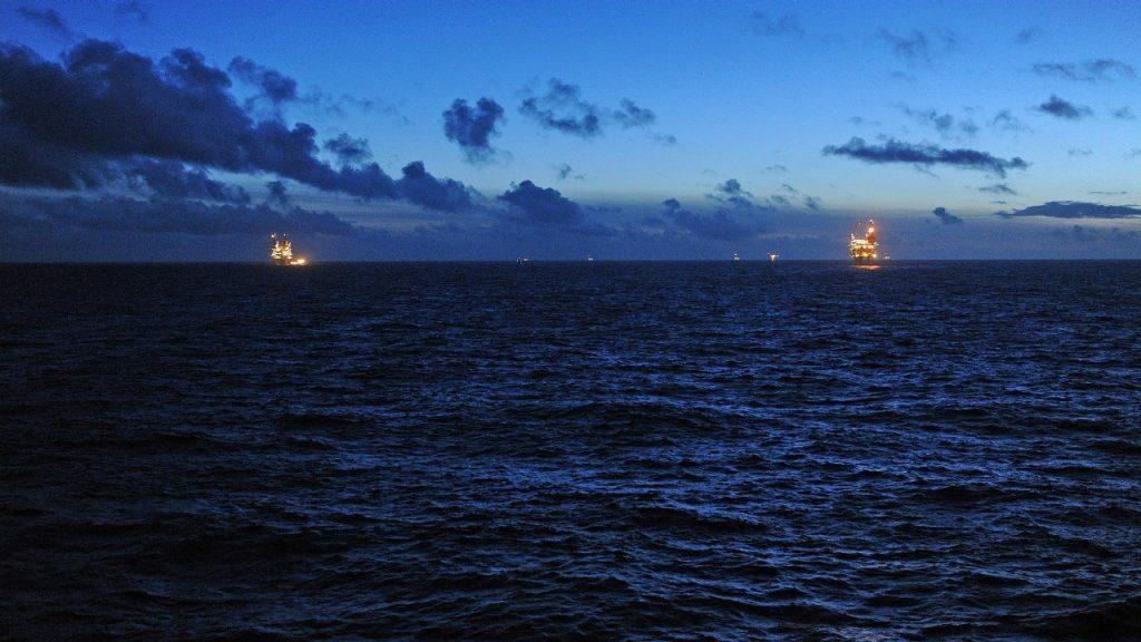 Blick von der Gullfaks-C-Plattform über die Nordsee©Statoil/Harald Pettersen