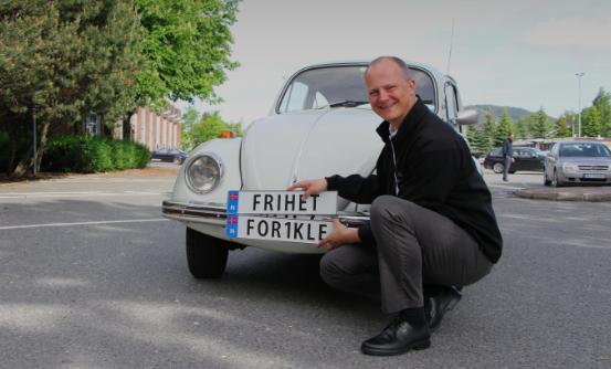 6.000 Pkw in Norwegen haben inzwischen ihr ganz persönliches Kennzeichen.©Frøydis Tornøe / Verkehrsministerium